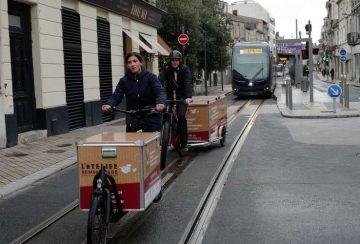 Presse - Bordeaux les livraisons à vélo ont le vent en poupe